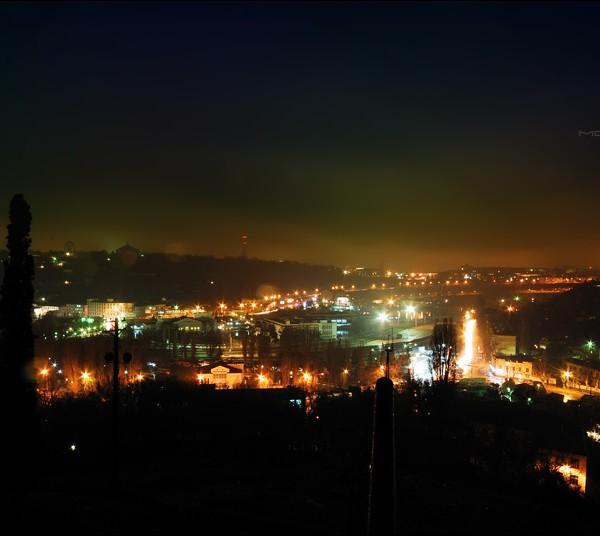 Фото ночного Севастополя